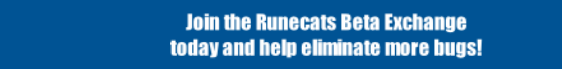 Join the Runecats Beta Exchange today and help eliminate more bugs!